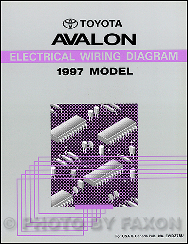 1997ToyotaAvalonRWD 1997 toyota avalon wiring diagram manual original 1995 toyota avalon radio wiring diagram at soozxer.org