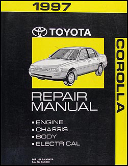 1997 Toyota Corolla Repair Manual Original
