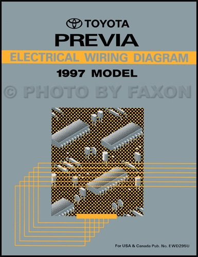 1997 Toyota Previa Wiring Diagram Manual Original