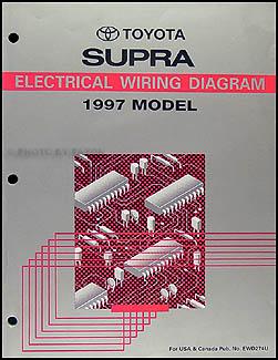 1997 Toyota Supra Wiring Diagram Manual Original