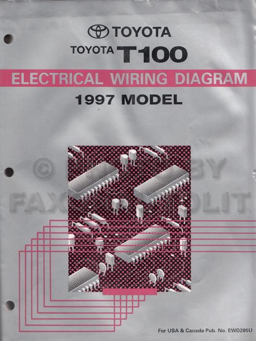 1997 toyota t100 truck wiring diagram manual original