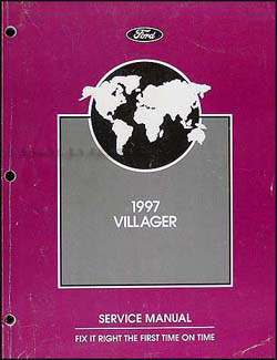 1997 mercury villager original repair manual 97 gs ls ebay. Black Bedroom Furniture Sets. Home Design Ideas