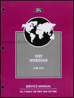 1997 ford windstar repair shop manual supplement original. Black Bedroom Furniture Sets. Home Design Ideas
