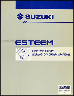 1998 2000 suzuki esteem wiring diagram manual original rh faxonautoliterature com 1997 Suzuki Esteem 1998 Suzuki Esteem Thermostat Location