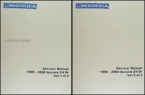 1998 2002 honda accord repair shop manual factory reprint rh faxonautoliterature com 2002 honda accord shop manual pdf 2002 honda accord service manual