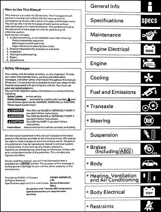 1998 2001 honda accord repair shop manual original rh faxonautoliterature com 2001 honda accord repair manual free download 2001 honda accord v6 service manual