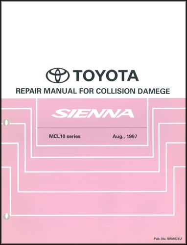 1998 2002 toyota sienna body collision repair shop manual. Black Bedroom Furniture Sets. Home Design Ideas