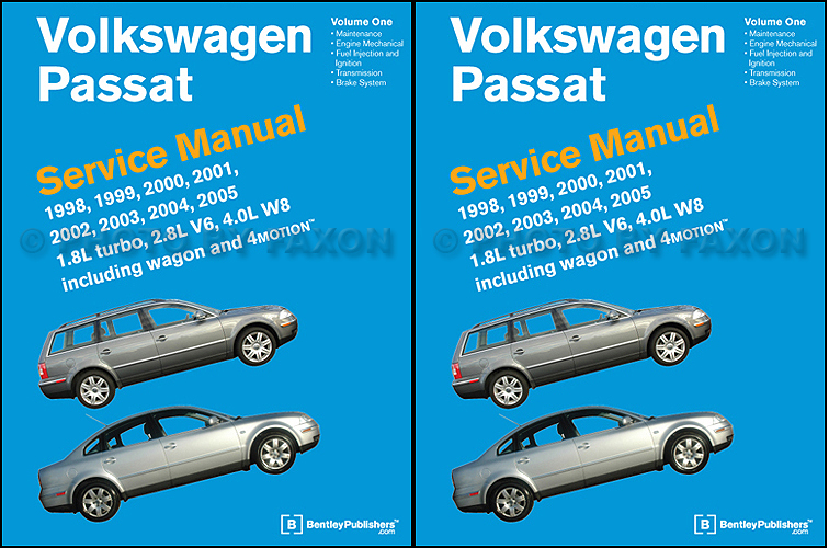 1998 2005 vw passat bentley repair shop manual 2 vol set rh faxonautoliterature com 2000 passat owners manual free download 2000 passat service manual