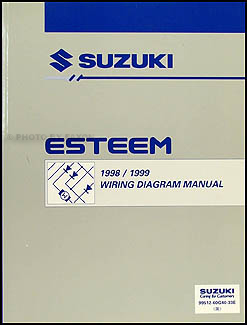 1998 2000 suzuki esteem wiring diagram manual original 1998 1999 suzuki esteem wiring diagram manual original