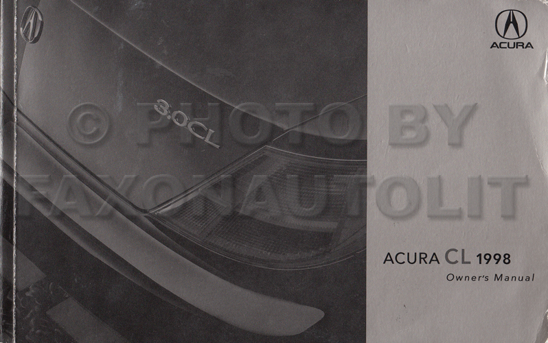 Acura 30 Cl Manual