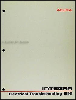 1998 Acura Integra Electrical Troubleshooting Manual Original