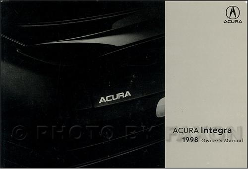 1998 Acura Integra Owners Manual Original