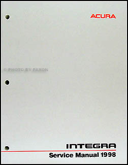 1998 Acura Integra Shop Manual Original