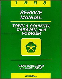 1998 Caravan, Town & Country, & Voyager Van Repair Manual Original