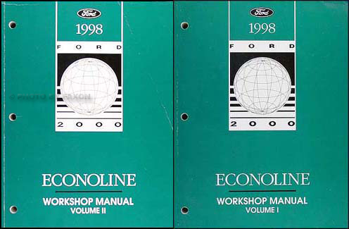 1998 Ford Econoline Van and Club Wagon Repair Shop Manual Set of 2 Original