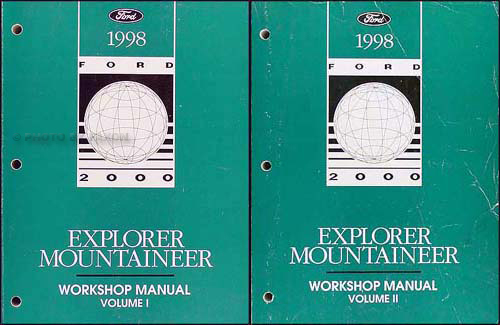 1998 ford explorer mountaineer repair shop manual original. Black Bedroom Furniture Sets. Home Design Ideas