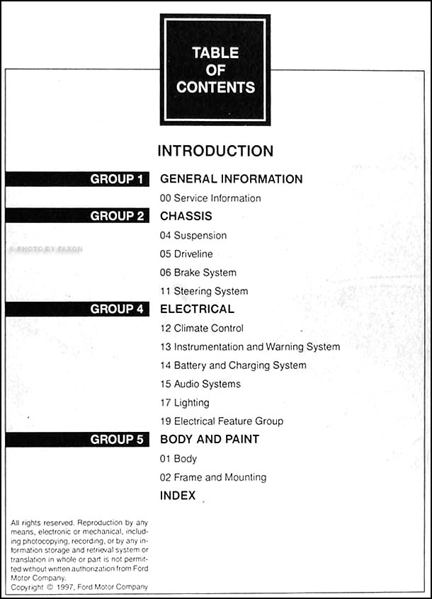1998 ford f150 f250 shop manual 2 volume set f 150 250