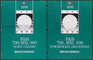 ford f700 service manuals shop owner maintenance and repair 1998 ford f700 f800 ft900 b700 truck repair shop manual set
