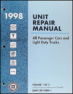 1998 GM Automatic Transmission Overhaul Manual Original