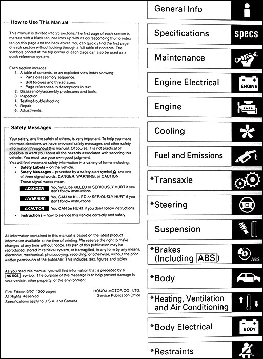 1998 2002 honda accord body repair shop manual original rh faxonautoliterature com 1999 honda accord service manual free 1999 honda accord service manual free download