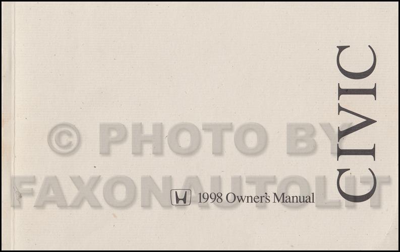 1998 honda civic hatchback owner s manual original 3 door rh faxonautoliterature com User Manual PDF User Manual