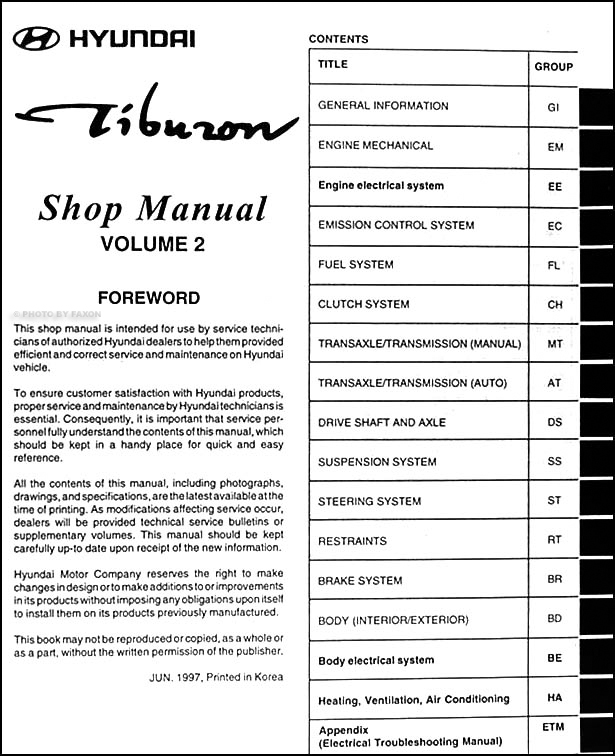 hyundai tiburon service manual free owners manual u2022 rh wordworksbysea com 1998 Focus Sedan Focus 1997