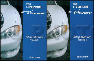 1998 hyundai tiburon repair shop manual original 2 vol set. Black Bedroom Furniture Sets. Home Design Ideas