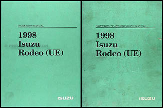 1998 isuzu rodeo honda passport repair shop manual set original rh faxonautoliterature com 1998 holden rodeo workshop manual free 1998 isuzu rodeo service manual
