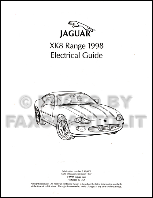 1998 jaguar xk8 electrical guide wiring diagram original rh faxonautoliterature com jaguar xk wiring diagram jaguar xkr wiring diagram