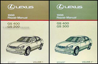 1998 lexus gs 300 400 repair shop manual original 2 volume set rh faxonautoliterature com 1998 Lexus RX300 1998 Lexus SC300