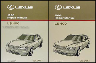 1998 lexus ls 400 repair shop manual original 2 volume set rh faxonautoliterature com 1996 Lexus LS400 Interior 1996 Lexus LS400 20X8.5 Wheels