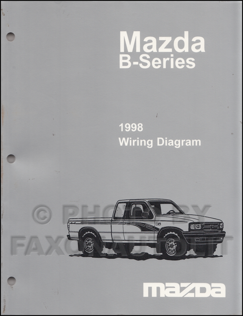 1998 Mazda B4000 B3000 B2500 Pickup Truck Wiring Diagram Manual Original 2  Door