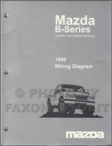 1998 mazda b4000 b3000 b2300 pickup truck wiring diagram. Black Bedroom Furniture Sets. Home Design Ideas