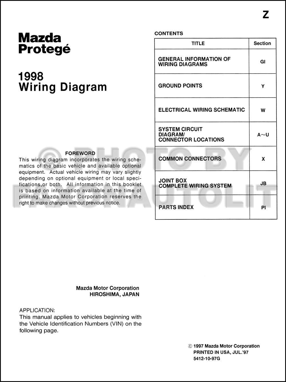 mazda protege headlight wiring mazda protege radio wiring diagram 1998 mazda protege wiring diagram manual original #12