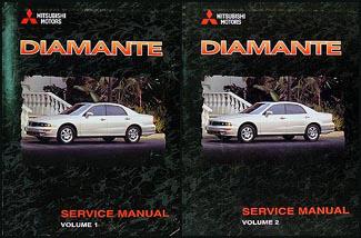 1998 mitsubishi diamante repair shop manual set original rh faxonautoliterature com 1993 Mitsubishi Outlander Sport 1995 Mitsubishi Diamante