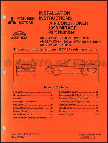 1998MitsubishiMirageACInstall 1998 mitsubishi mirage air conditioner installation instruction 1998 mitsubishi mirage wiring diagrams at readyjetset.co