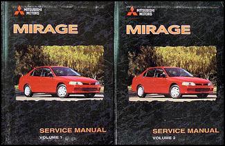 1998 Mitsubishi Mirage Repair Shop Manual Set Original