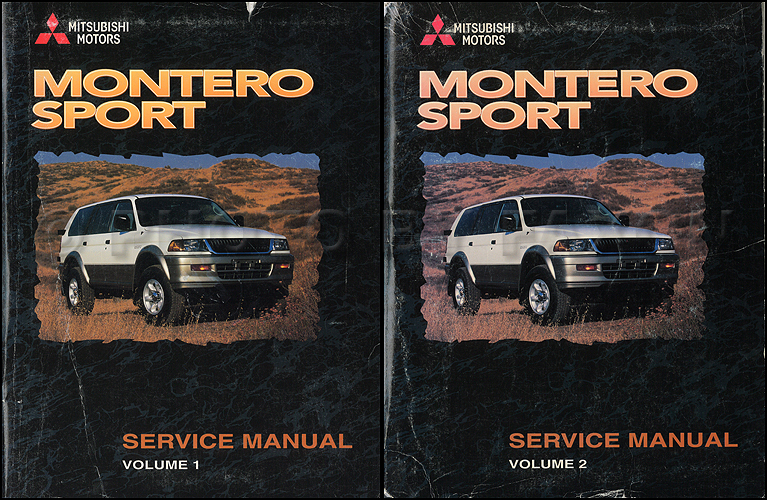 1998 mitsubishi montero sport repair shop manual set original rh faxonautoliterature com 1998 mitsubishi montero sport ls repair manual 1998 Mitsubishi Montero Sport Diagrams