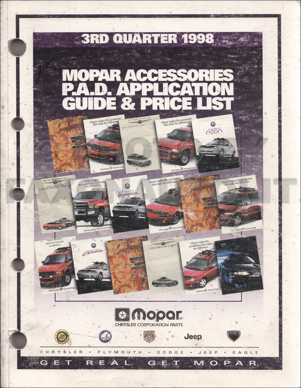 1998 MoPar Accessories Dealer Facts Book Original