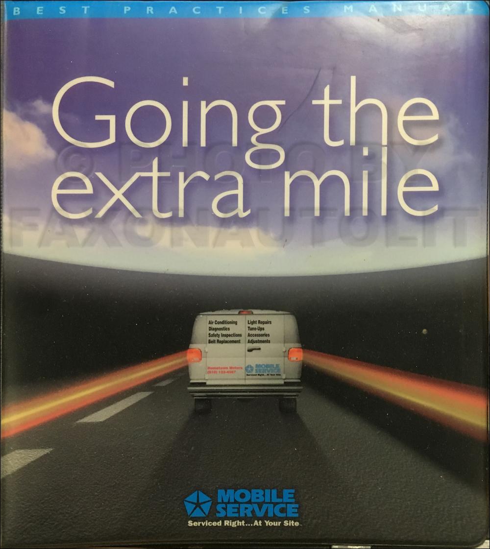 1998 Mopar Mobile Service Best Practices Manual Original
