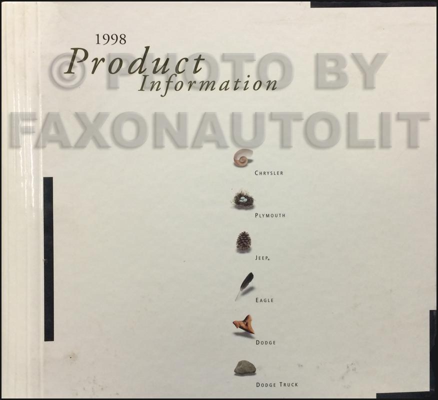 1998 Mopar Press Kit Original