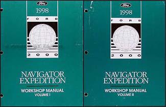 1998 Ford Expedition and Lincoln Navigator Repair Shop Manual Set Original