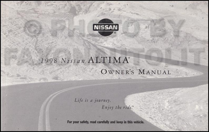 1998 nissan altima owner 39 s manual original. Black Bedroom Furniture Sets. Home Design Ideas