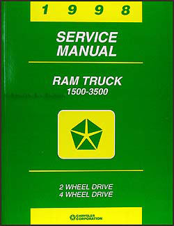 1998 Dodge Ram Truck Repair Shop Manual Original 1500-2500-3500