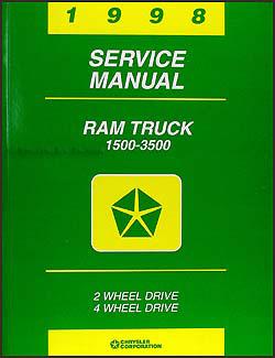 1998 Dodge Ram Truck Repair Shop Manual Original 1500-2500-3500