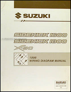 1998 suzuki sidekick 1600 and sport 1800 x-90 wiring ... suzuki tc 90 wiring diagram suzuki x 90 wiring diagram