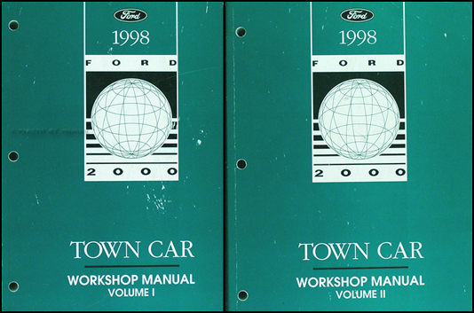1998 lincoln town car original repair shop manual 2 volume. Black Bedroom Furniture Sets. Home Design Ideas