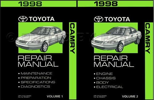 1998 toyota camry wiring diagram manual original 1998 toyota camry repair shop manual 2 volume set original 179 00