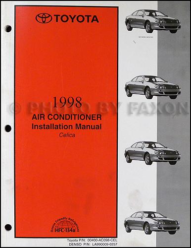 1998 Toyota Celica Repair Shop Manual Original