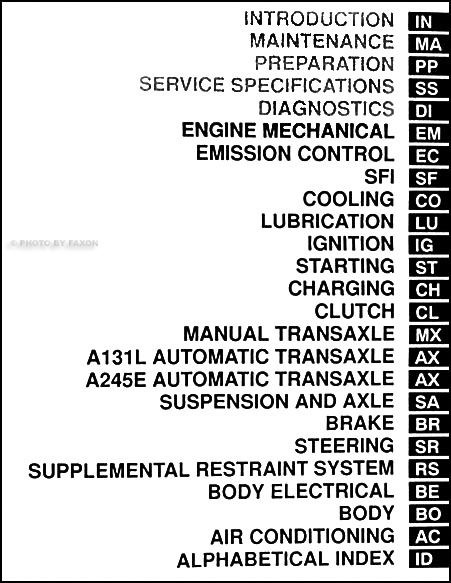1998 Toyota Corolla Repair Shop Manual Set Original